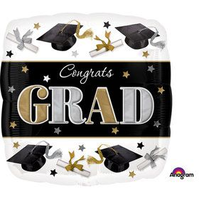 "Festive Graduation 17"" Balloon (Each)"