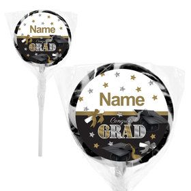 "Festive Graduation Personalized 2"" Lollipops (20 Pack)"