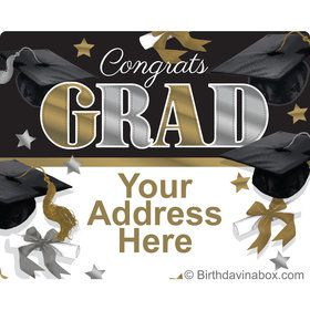 Festive Graduation Personalized Address Labels (Sheet of 15)