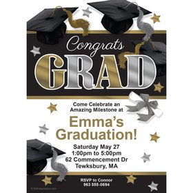Festive Graduation Personalized Invitation (Each)