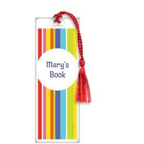 Festive Stripes Personalized Bookmark (each)