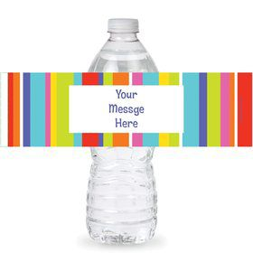 Festive Stripes Personalized Bottle Labels (Sheet of 4)