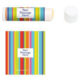 Festive Stripes Personalized Lip Balm (12 Pack)