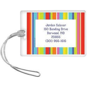Festive Stripes Personalized Luggage Tag (each)