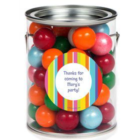 Festive Stripes Personalized Paint Can Favor Container (6 Pack)