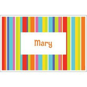 Festive Stripes Personalized Placemat (each)