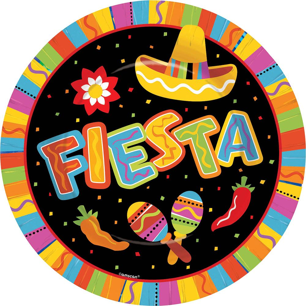 "Fiesta Fun 10.5"" Luncheon Plates (8 Pack) BB599820"