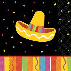 Fiesta Fun Beverage Napkins (16 Pack)