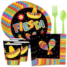 Fiesta Fun Party Standard Tableware Kit Serves 8