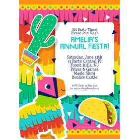 Fiesta Fun Personalized Invitation