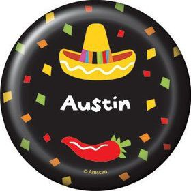 Fiesta Party Personalized Button (each)