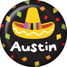 Fiesta Party Personalized Mini Button (Each)