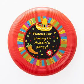 Fiesta Party Personalized Mini Discs (Set of 12)