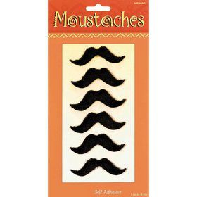 Fiesta Plush Mustaches (6 Count)
