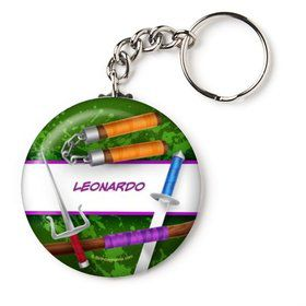 "Fighting Turtles Personalized 2.25"" Key Chain (Each)"