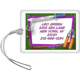 Fighting Turtles Personalized Luggage Tag (Each)