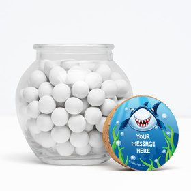 "Fin Fun Personalized 3"" Glass Sphere Jars (Set of 12)"