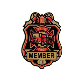 Fire Chief Badge (4-pack)