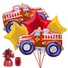 Fire Engine Party Balloon Kit
