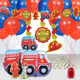 Fire Engine Party Decoration Kit