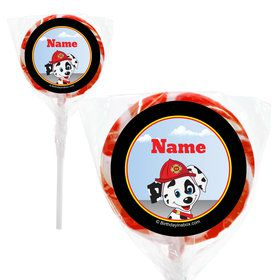 "Fire Truck Personalized 2"" Lollipops (20 Pack)"