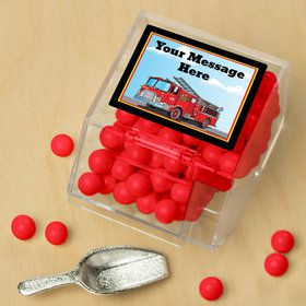 Fire Truck Personalized Candy Bin with Candy Scoop (10 Count)