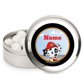 Fire Truck Personalized Candy Tins (12 Pack)