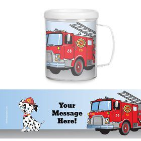 Fire Truck Personalized Favor Mugs (Each)