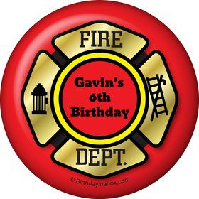 Fire Truck Personalized Magnet (Each)