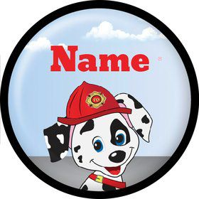 Fire Truck Personalized Mini Button (Each)