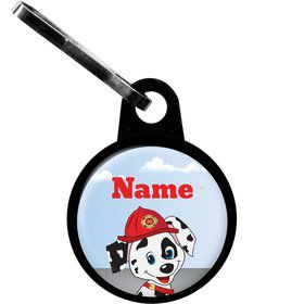 Fire Truck Personalized Zipper Pull (Each)
