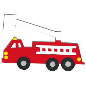 Fire Trucks Foam Activity Kit (Each)