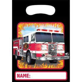 Fire Watch Plastic Loot Favor Bags (8 Pack)