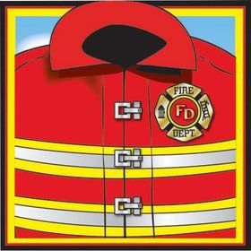 Firefighter Beverage Napkins (16 Pack)