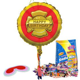 Firefighter Birthday Pull String Economy Pinata Kit