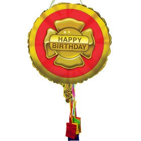 Firefighter Birthday Pull String Pinata