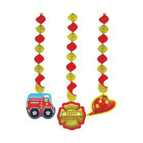 Firefighter Dangling Cutout (3-pack)