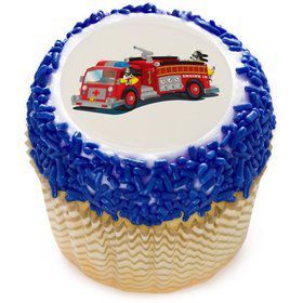 "Firetruck 2"" Edible Cupcake Topper (12 Images)"