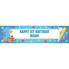 First Birthday All-star Personalized Banner (each)