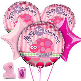 First Birthday Ladybug Balloon Kit
