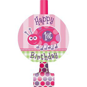 First Birthday Ladybug Blowouts (8-pack)