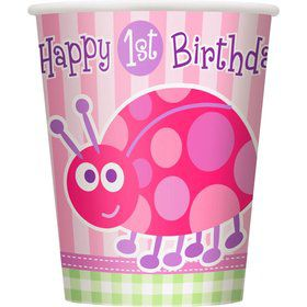 First Birthday Ladybug Cups (8-pack)