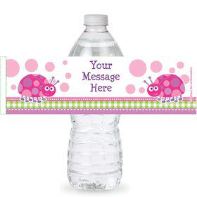 First Birthday Ladybug Personalized Bottle Labels (Sheet of 4)