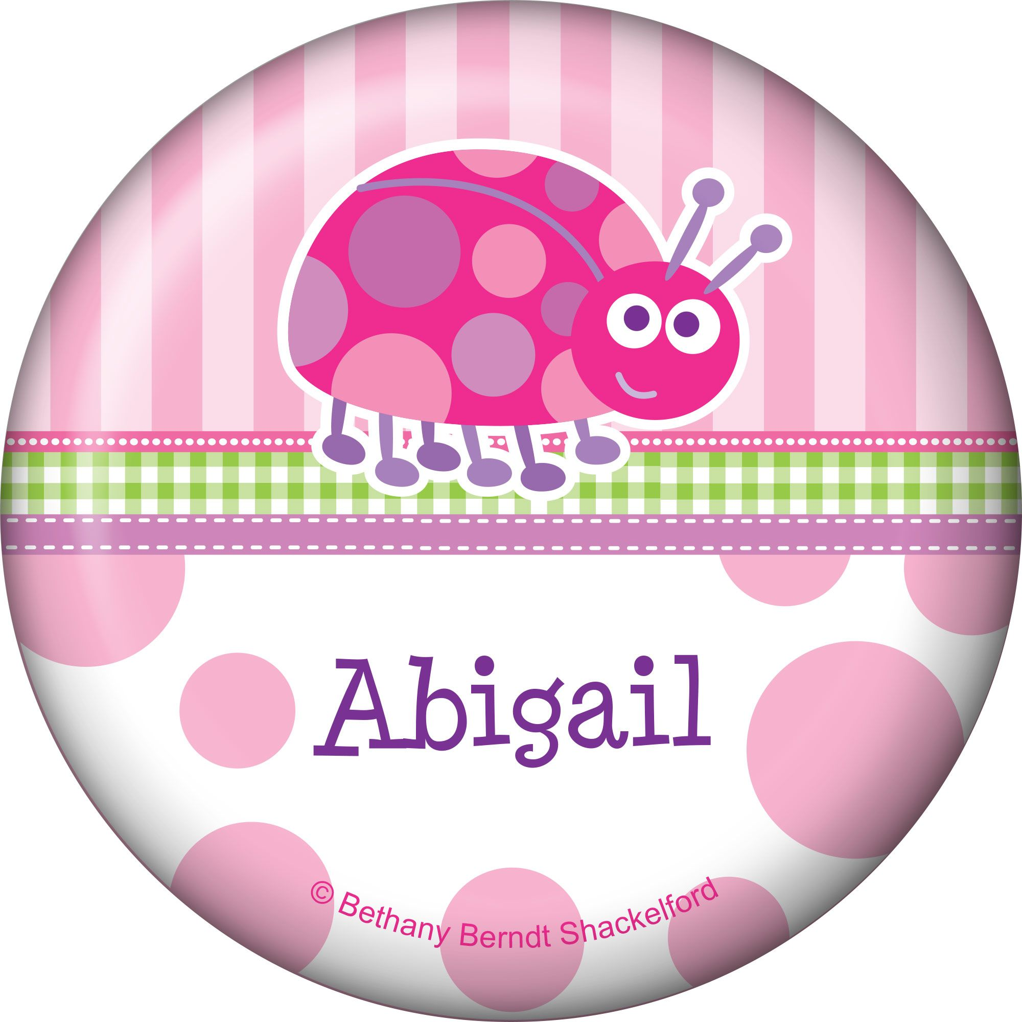First Birthday Ladybug Personalized Button (Each) BB101658