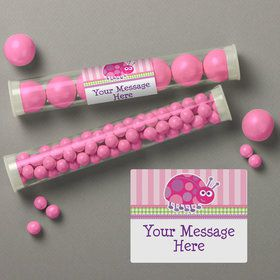 First Birthday Ladybug Personalized Candy Tubes (12 Count)