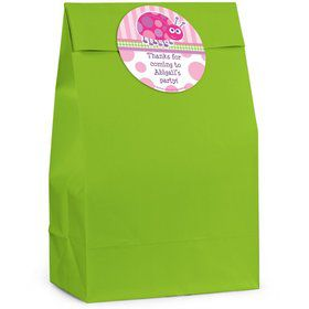 First Birthday Ladybug Personalized Favor Bag (Set Of 12)