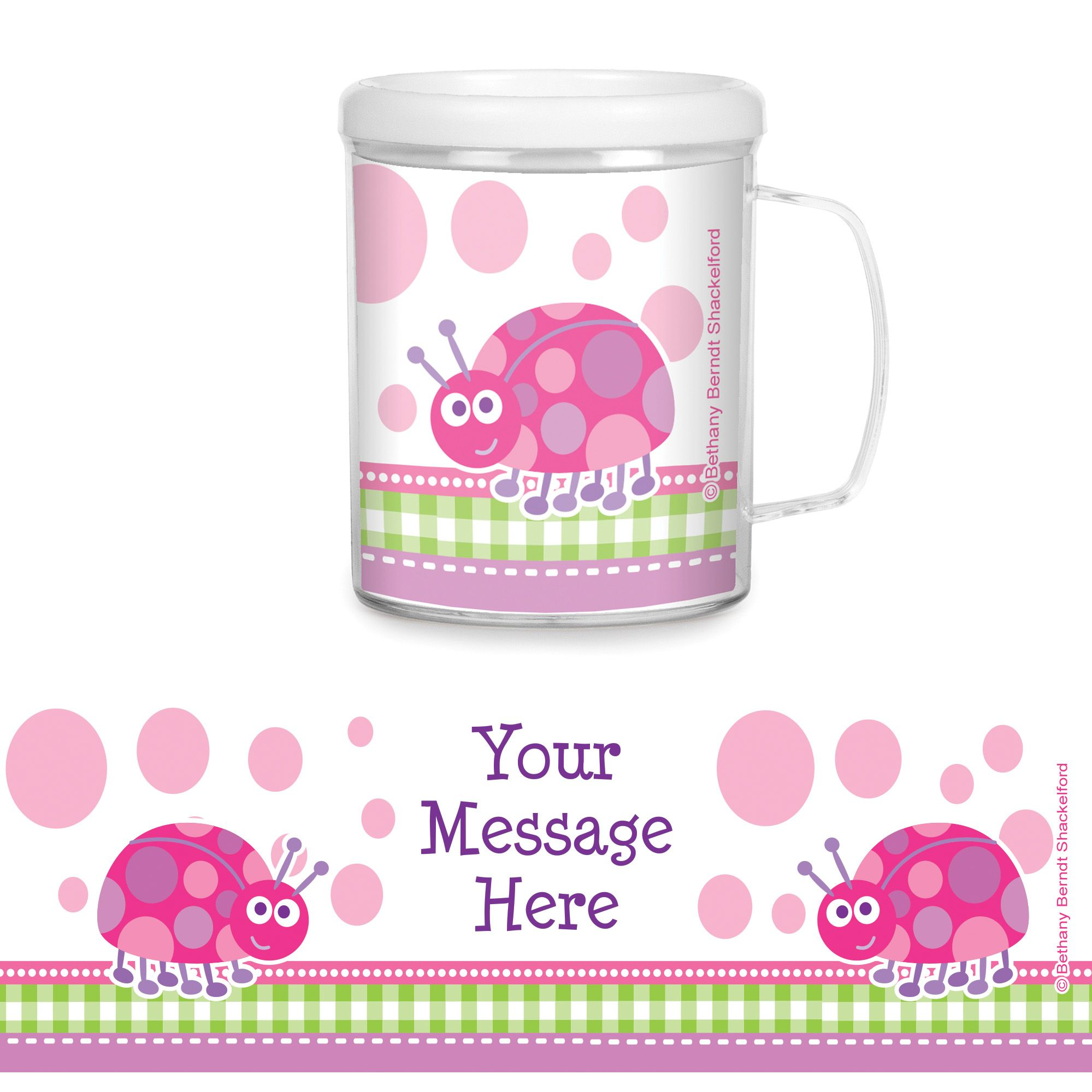 First Birthday Ladybug Personalized Favor Mugs (Each) - Party Supplies BB101656CUP