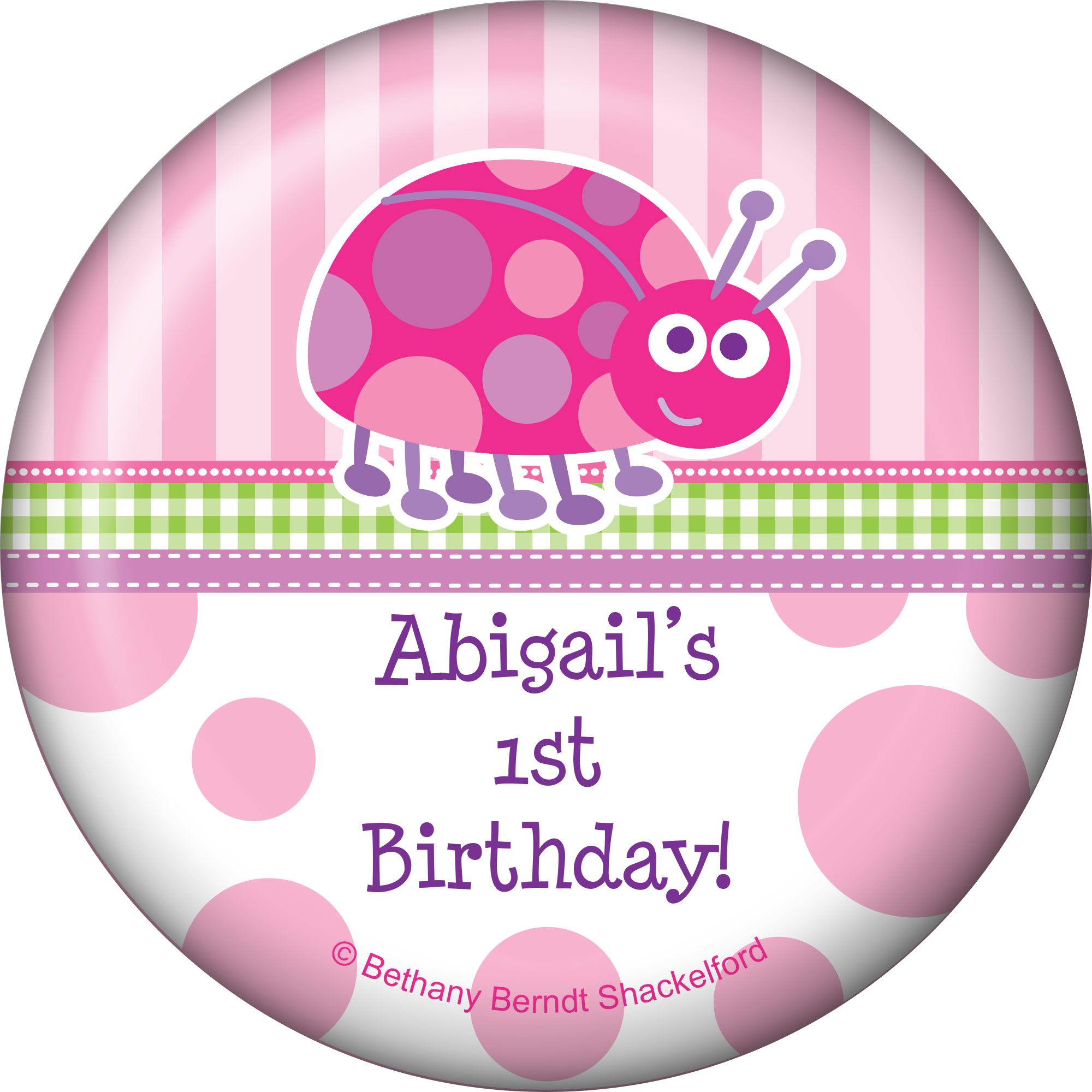 First Birthday Ladybug Personalized Magnet (each) BB101660
