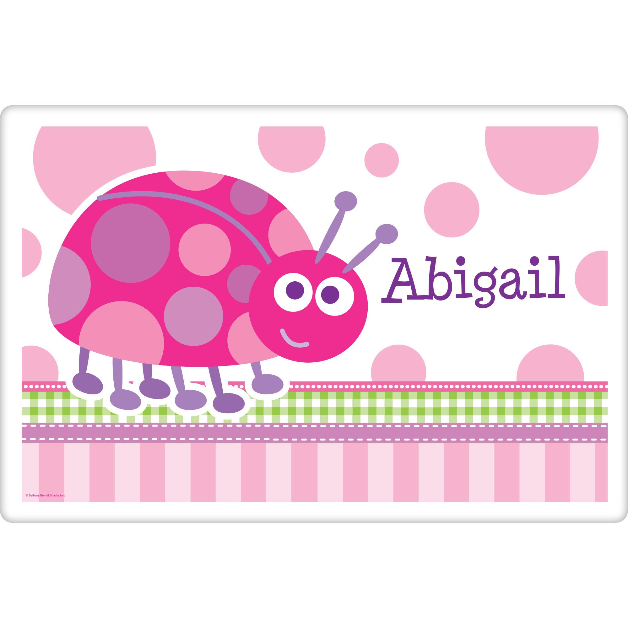 First Birthday Ladybug Personalized Placemat (Each) BB101664