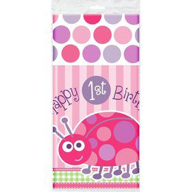 First Birthday Ladybug Tablecover (each)